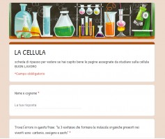 Moduli di google - esempio di esercitazione di scienze