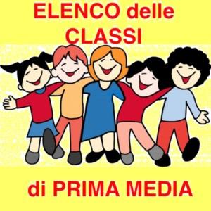 ELENCO CLASSI PRIMA MEDIA